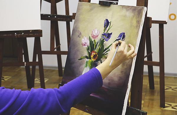 Мастер-класс художников по живописи маслом